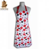 Quality Cotton Canvas Red And White Polka Dot Apron Custom Cooking Aprons for sale