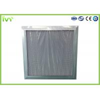 Quality H11 H12 H13 Deep Pleated Hepa Filter , Hepa Furnace Filter With Large Dust Holding Capacity for sale