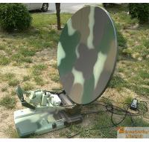 Quality Interstellar 1.2m Flyaway Carbon Fiber Antenna / Auto Acquiring Satellite Beacon for sale