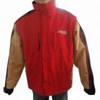Quality Men's Ski Jacket with 190T Polyester Lining and SBS Zippers for sale