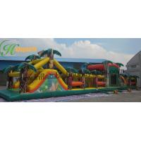 Quality Adult Inflatable Obstacle Course Bounce House , Blow Up Obstacle Course for sale