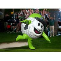 Quality 8 Feet Inflatable Man Costume Full Printing Green Inflatable Golf Ball Costume for sale