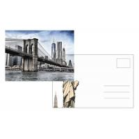 Quality Custom Lenticular Postcard Printing 3d Depth New York City 4x6 Inch EU Standard for sale