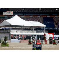 Buy cheap Flame Retardant 10x20m High Peak Double Decker Tent with Glass Wall for Horse from wholesalers