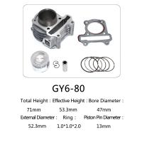 Quality 47mm Bore Diameter Motorcycle Cylinder Kit Custom Casting For Honda Halma Series for sale