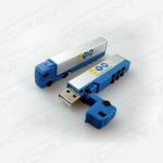 Transport Truck Plastic USB Flash Drive, Custom Logo Plastic Truck USB Thumb Drive