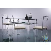 Quality acrylic breakfast bar table and chairs for sale