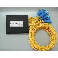 Buy cheap PLC 1×32 Fiber Optic Splitter ABS material SC connector 3.0mm diameter G657A1 fiber yellow cable from wholesalers