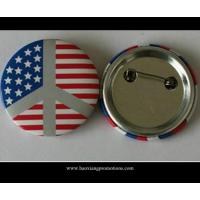 Quality custom company logo regular size tin button badge with safety tin/ plastic badge for sale