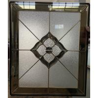 Buy Patina and brass came decorative glass for wooden door 25.4MM thickness at wholesale prices