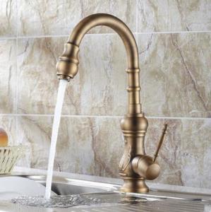 China Antique Brass Kitchen Faucet (Antique Copper Finish) T-1705A on sale