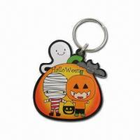 Buy cheap Laser-cut Clear Acrylic Key Tags, Halloween Motif from wholesalers
