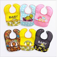 Quality Safety Waterproof Baby Bib , Toddler Feeding Bibs 100% Polyester Washable for sale