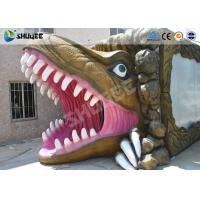 Quality Mini Cinema 5D Simulator Movie Theatre With Dinosaur Design Cabin for sale