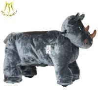 China Hansel ride on animal toy ride and plush motorized animals for mall with child horse toy model for sale on sale
