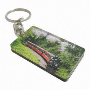 Quality Laser-cut Acrylic Key Tags, Rectangular Shape for sale