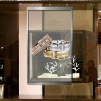 Quality Shop Window Glass Wall LED Screen RGB 3.91-7.81 Pixels Full color SMD3512 for sale