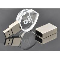 Quality Custom Printed USBFlash Drive Storage Crystal Clear Transparent Heart Style for sale