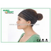 China White Nonwoven Elastic Disposable Hair Band / Head band latex free on sale