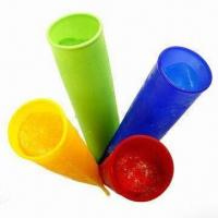 China 4-piece Silicone Ice Pop Maker Set, Available in Four Cors on sale