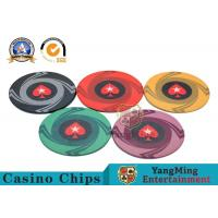 Round Plastic Ceramic Blank Casino Poker Chips Sets , Colorful Polyspectra Chip for sale