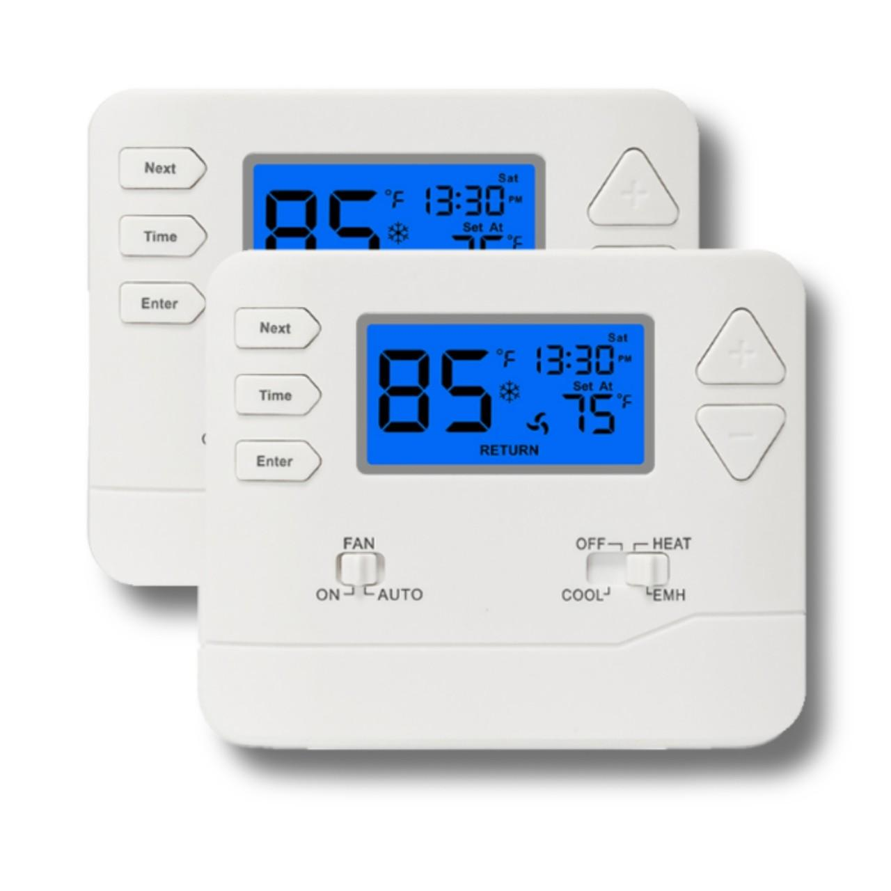 Buy cheap 5 / 1 / 1 Programmable Heat Pump Thermostat For Room Temperature Controller from wholesalers