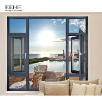 Quality Double Pane Aluminum Casement Windows With Mosquito Net Top Hung Open Style for sale