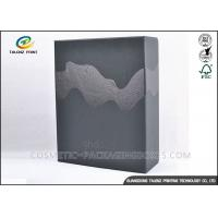 Embossing Black Merchandise Packaging Boxes , DIY Packaging Box With Drawer