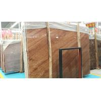 China China Red Marble Polished Big Slabs Red/Coffee Wood Vein Imperial Wood Vein from Yunnan for sale