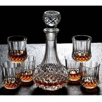Quality Diamond Design Whiskey Glass Bottle With Cups For Night Bar Offer Whiskey for sale