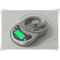 Quality Timer Function Kitchen Weight Scale , Tempered Glass Platform Portable Food Scale for sale