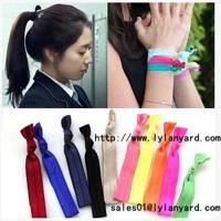 China Hair Tie Fashion Fold Over Elastic Hair Band on sale