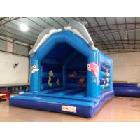 Quality Lovely Dolphins Kids Inflatable Bounce House With Dolphins Modelings for sale