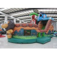 Quality Elephant Inflatable Pirate Ship Bouncer Animals Pirate Boat Silk Printing For Kids for sale