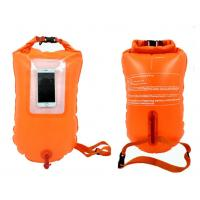 Quality Inflatable Swim Safety Buoy Bright Orange PVC / TPU Coated With Transparent Window for sale