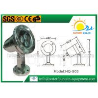 Quality Scaffolding Waterproof Led Fountain Lights Low Voltage 3W High Power 0.65kg for sale