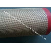 Quality Glass Fiber Teflon Coated Conveyor Belt Double Weft Elongation Coefficient Less 5‰ for sale