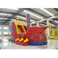 Quality Outdoor Game Colourful Inflatable Pirate Ship Bouncer House Waterproof 8 X 4 X 5m for sale