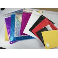 Quality Multicolor Shiny Shipping Bubble Mailers , Durable Padded Letter Envelopes for sale