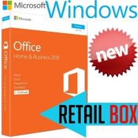 Quality Microsoft Office Home Business 2016 Retail Box , Support 1 User License Key Office 2016 for sale