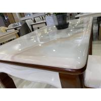 China Household White Marble Top Dining Table , Modern Dining Room Sets For 4 on sale