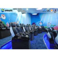 Quality Midsize 4D Cinema System , Black and white Glass Fiber Reinforced Motion Chairs And Black Leather for sale