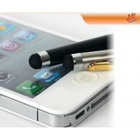 Quality 2 in 1 Aluminium tube rubber tip cell phone Capacitive Screen Stylus Pen, iPhone Touch for sale