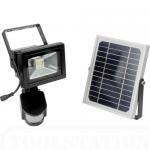 Quality PIR Motion Sensor 10W Solar LED Flood lights 950Lm DC 12V 6600mAh 140 degree for sale