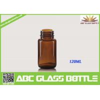 Buy Free Sample 120ML Custom Small Tablet Amber Glass  Bottle at wholesale prices