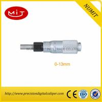 Quality 0-13mm Digital Outside Micrometer Head With Spherical Spindle Tip And Plain Stem/Vernier Micrometer for sale