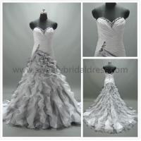 Quality Ball Gown Sweetheart Beading Ruffles Organza Wedding Dress AS1344 for sale