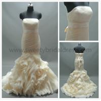 Buy cheap Mermaid & Trumpet Strapless Ruffles Satin Belt Organza Wedding Dress LT2162 from wholesalers