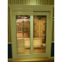 Quality decorative glass panels in French door for sale