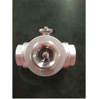 PN20 Electric Actuator Ball Valve , Stainless Steel 3 WayDN20 Ball Valve for sale
